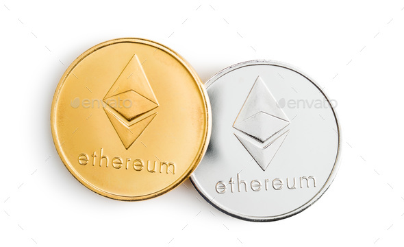Ethereum. Digital cryptocurrency. - Stock Photo - Images