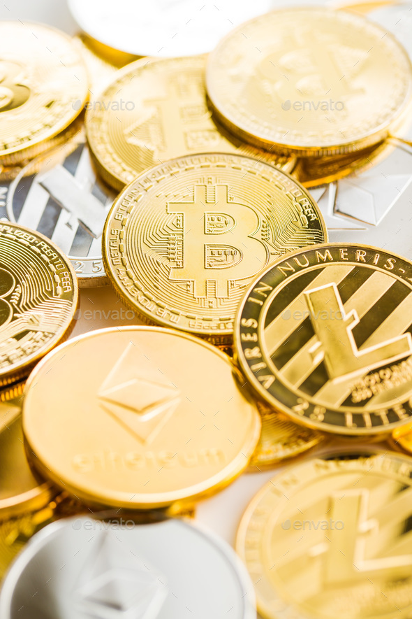Various digital cryptocurrency. - Stock Photo - Images