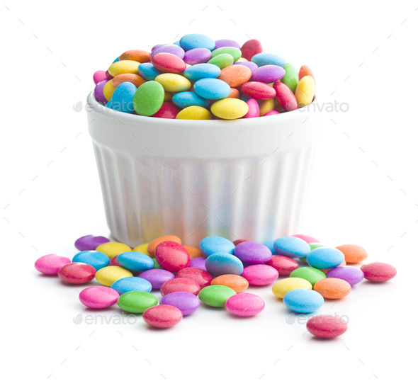 Colorful chocolate candies. - Stock Photo - Images