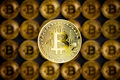 Golden bitcoins . Cryptocurrency. - PhotoDune Item for Sale