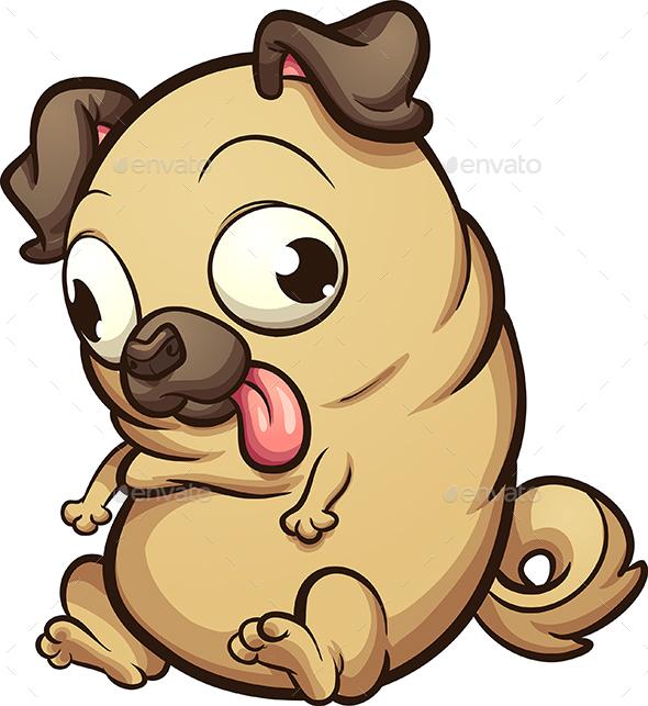 Fat Pug - Animals Characters