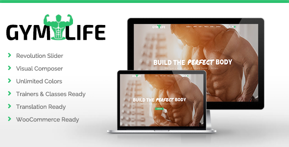 Image of GymLife - Gym, Yoga & Fitness WordPress Theme