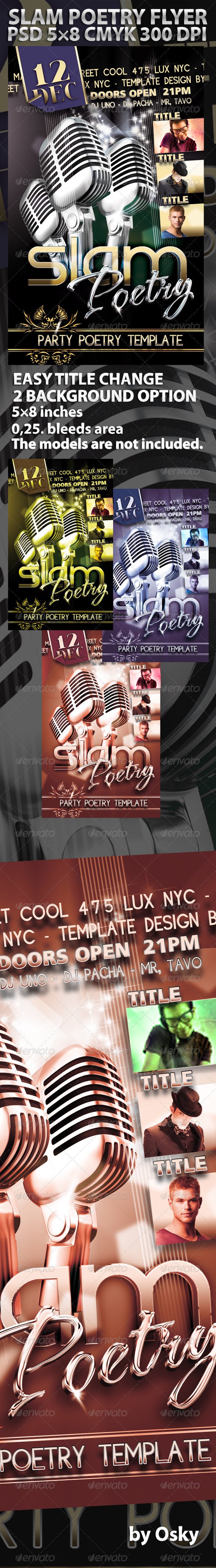 Slam Poetry Flyer - Clubs & Parties Events
