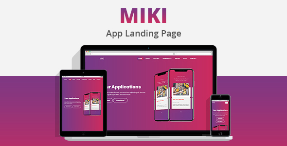 ThemeForest MIKI Landing Template 21170949