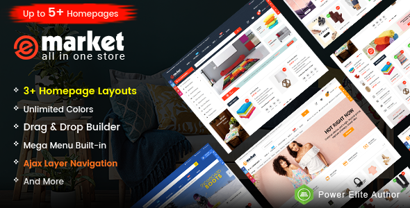 Image of eMarket - Responsive & Multipurpose Sectioned Drag & Drop Shopify Theme