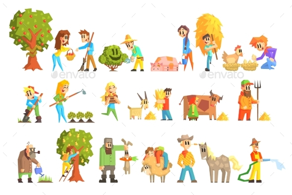 Collection Of Animal Farm Illustrations - Animals Characters