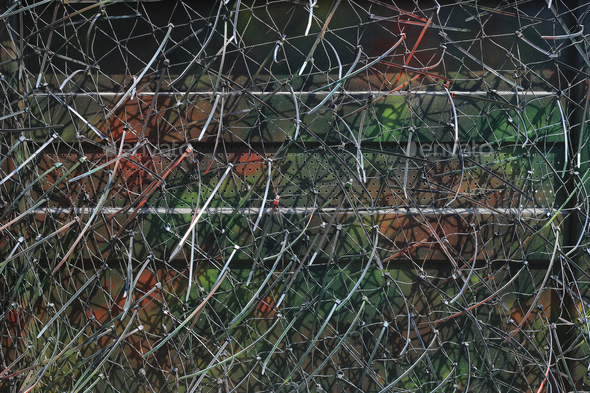 Camouflage net for hidding in nature - Stock Photo - Images