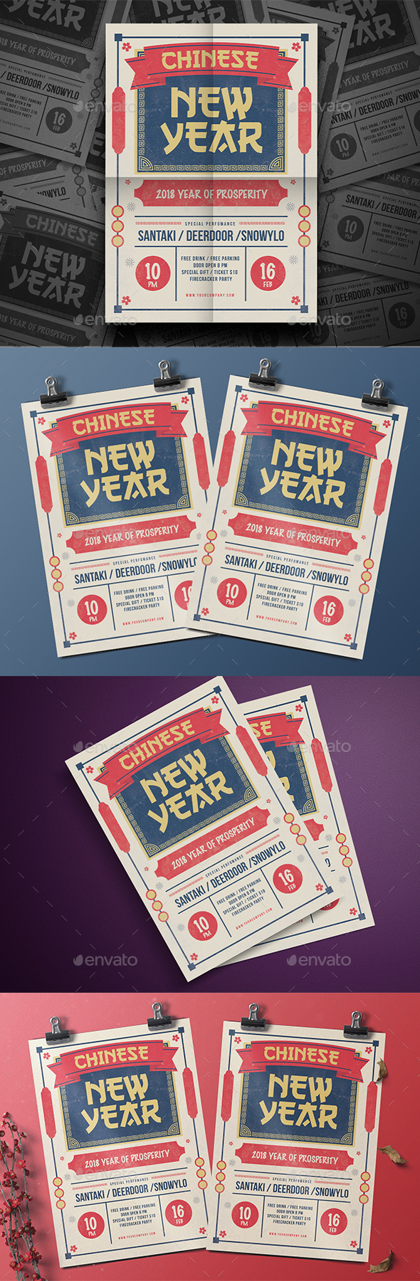 Classic New Year Flyer - Events Flyers