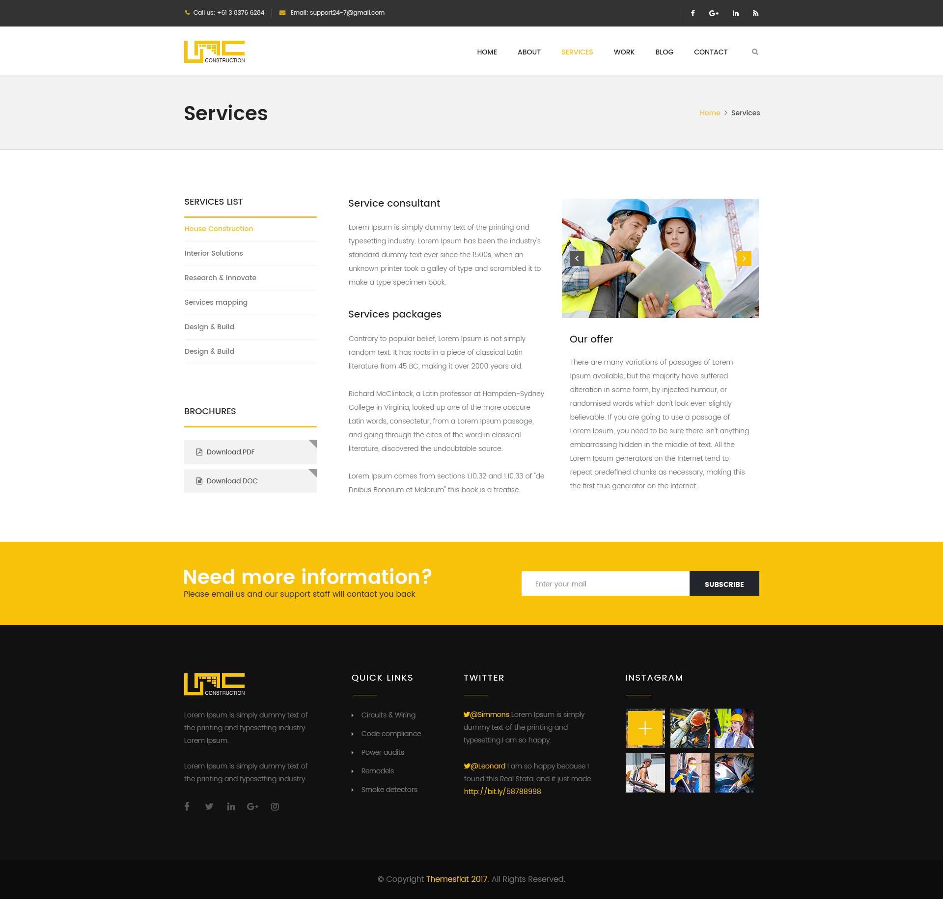 Unc Construction - Construction Business, Building Company PSD ...