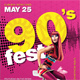 90s Party Poster - GraphicRiver Item for Sale