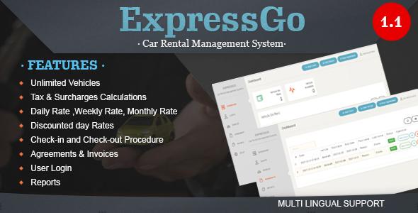 ExpressGo - Car Rental Management System - CodeCanyon Item for Sale