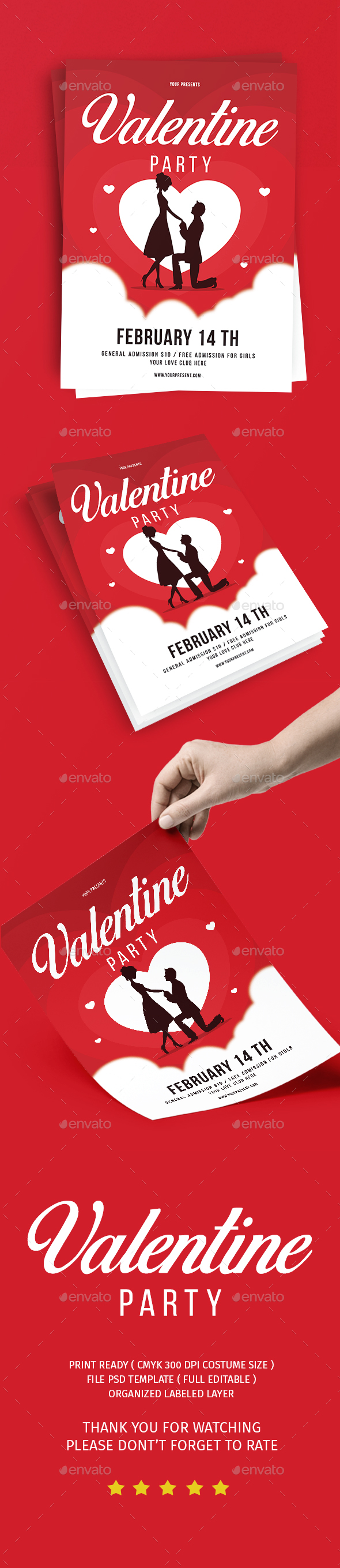 Valentine day party - Events Flyers