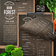 Rain Forest A4 & US Letter Single Page Menu - GraphicRiver Item for Sale
