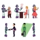 Set of Robot Assistants Helping People - GraphicRiver Item for Sale