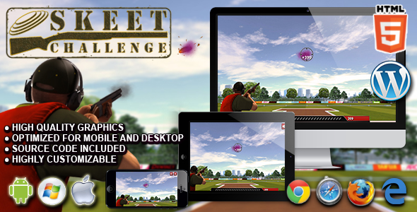 Skeet Challenge - HTML5 Sport Game - CodeCanyon Item for Sale