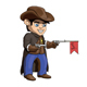 American Cowboy Sheriff Cartoon Illustration - GraphicRiver Item for Sale