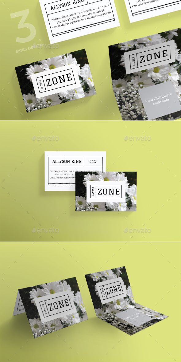 Beauty Zone Business Card - Business Cards Print Templates