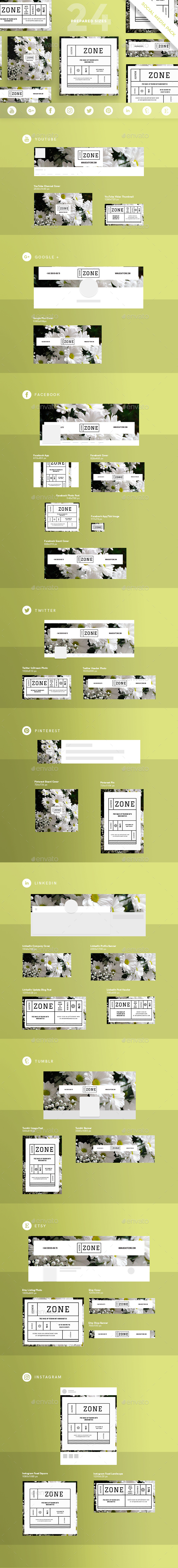Beauty Zone Social Media Pack - Miscellaneous Social Media