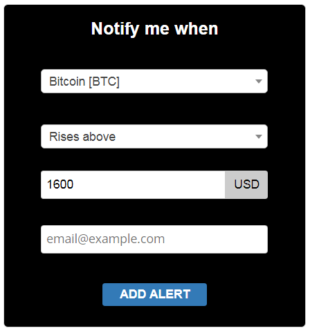 cryptocurrency how to set up price alerts