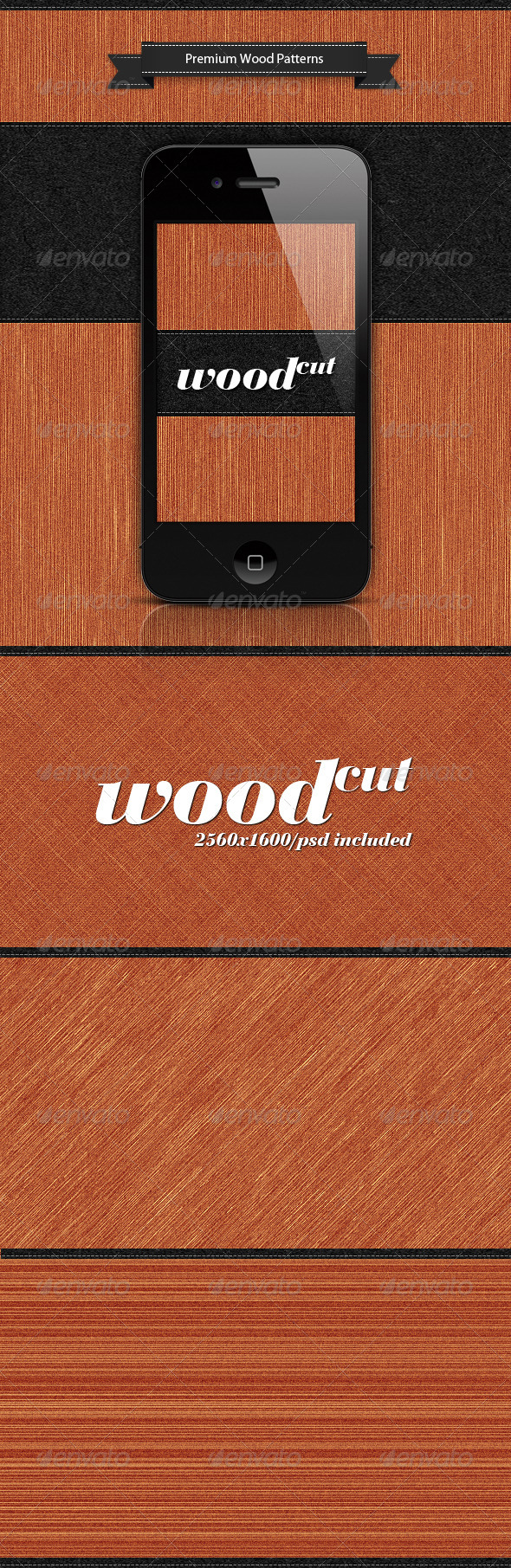 Wood Cut - Patterns Backgrounds
