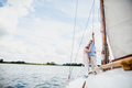 Retired marriage sailing on the lake. - PhotoDune Item for Sale
