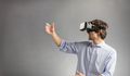 Young man playing in virtual reality goggles - PhotoDune Item for Sale