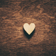 Heart on dark wooden background - PhotoDune Item for Sale