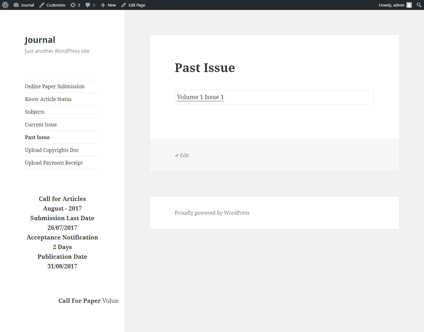 Journal research publication wordpress plugin by hyvikk codecanyon 25stpastissueg publicscrutiny Choice Image