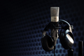 Microphone in recording studio - PhotoDune Item for Sale