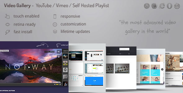 Video Gallery Wordpress Plugin /w YouTube, Vimeo, Facebook