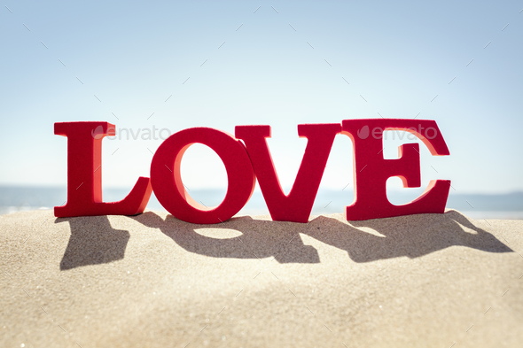 Love the beach - Stock Photo - Images