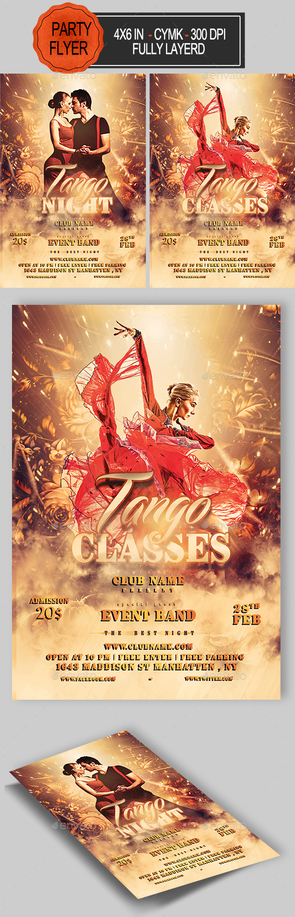 Tango Flyer - Clubs & Parties Events