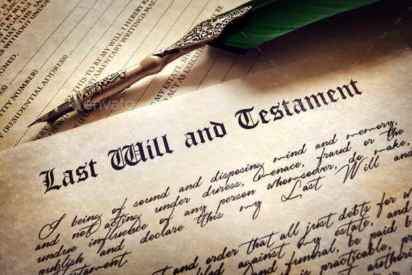 Signing Last Will and Testament - Stock Photo - Images