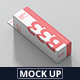 Box Mockup - High Slim Rectangle Size with Hanger - GraphicRiver Item for Sale
