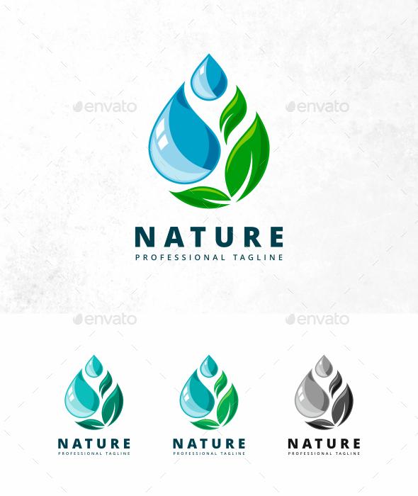 Nature Drop Logo - Nature Logo Templates