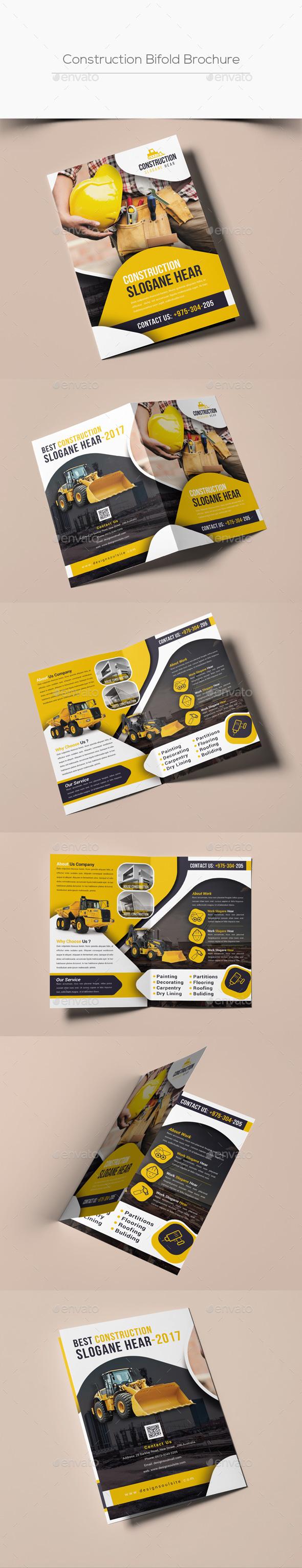 Construction Bifold Brochure - Corporate Brochures