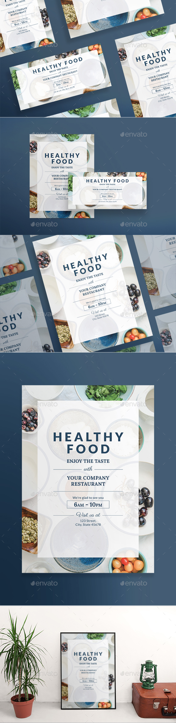 Healthy Food Flyers - Restaurant Flyers