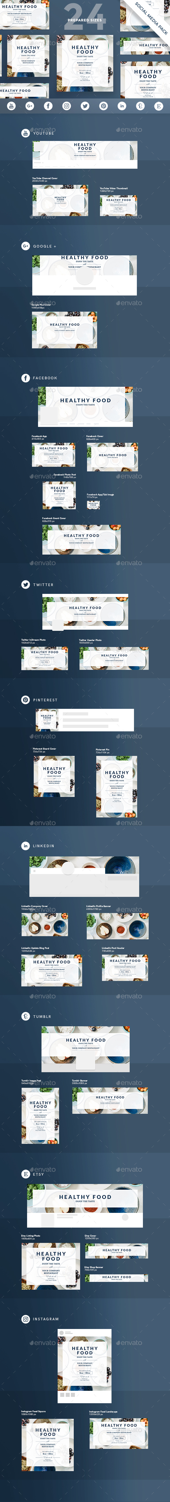 Healthy Food Social Media Pack - Miscellaneous Social Media