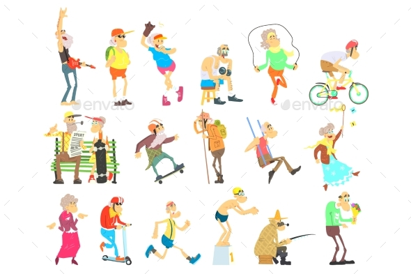 Old People Activities - Sports/Activity Conceptual