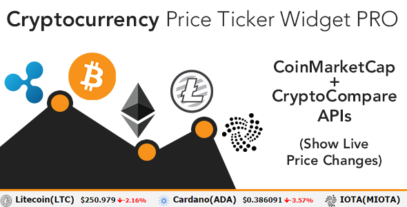 Cryptocurrency Price Ticker Widget PRO - WordPress Plugin Free Download | Nulled