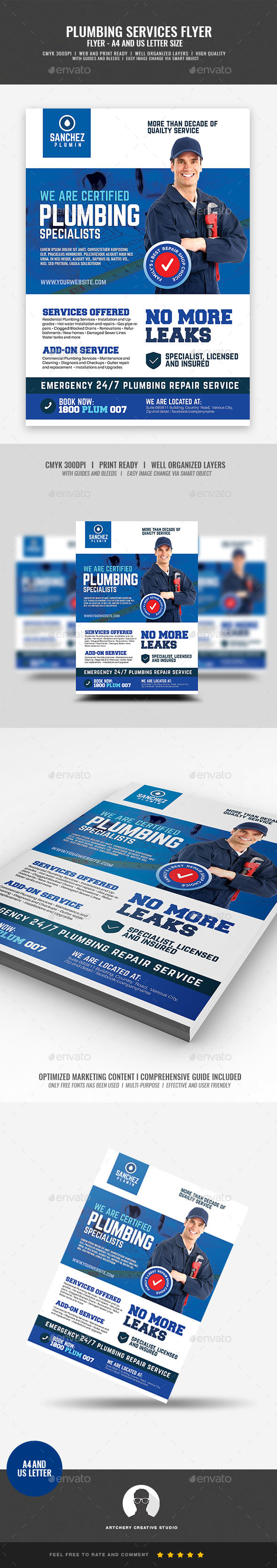 Plumbing Company Promotional Flyer - Corporate Flyers