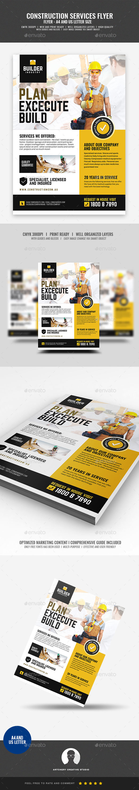 Construction and Engineering Service Flyer - Corporate Flyers