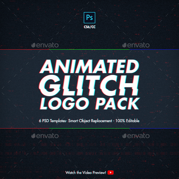 Animated glitch logo pack photoshop templates by blacknull animated glitch logo pack photoshop templates photo templates graphics maxwellsz