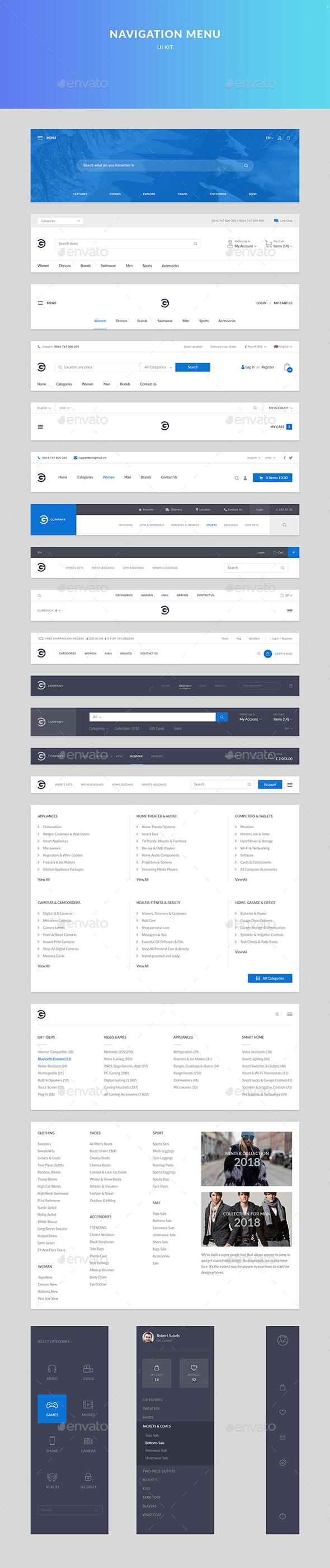 Navigation Menu - Navigation Bars Web Elements