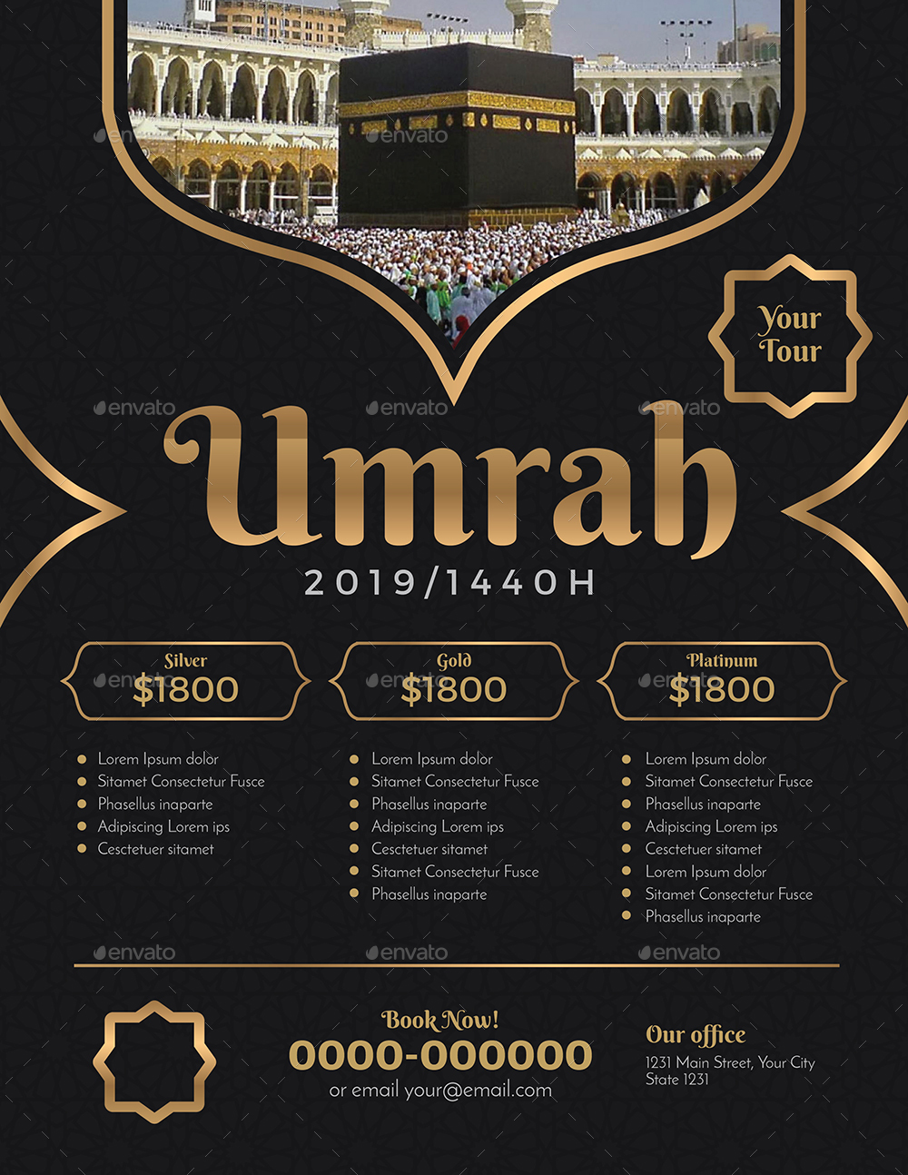 umrah  hajj flyer by guuver