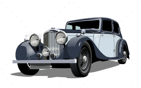 Vector Vintage Car - Man-made Objects Objects