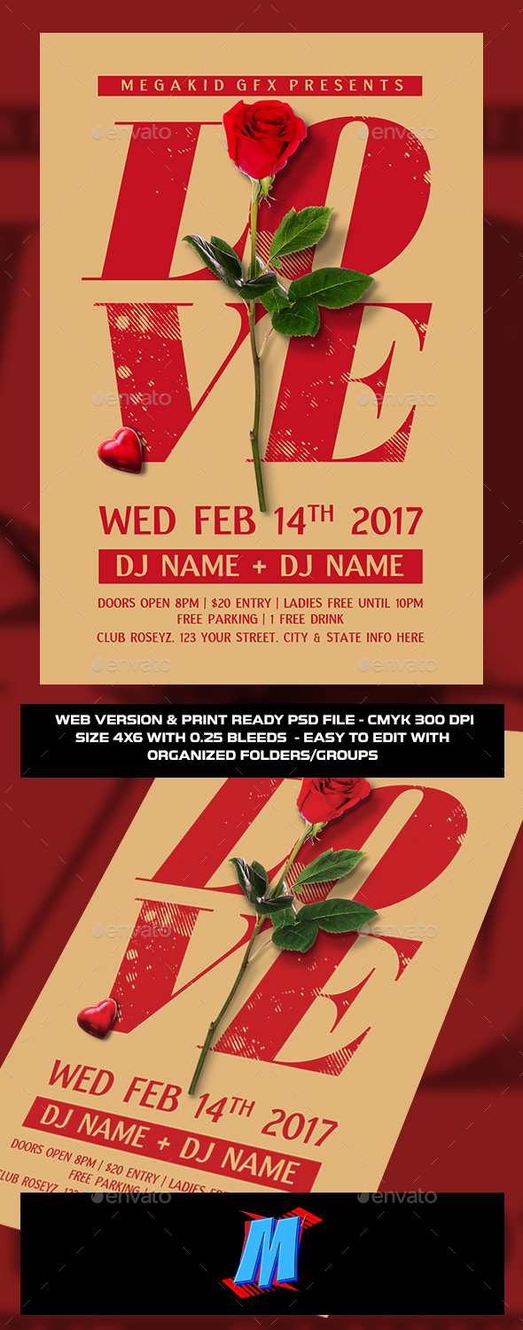 Love Flyer Template - Clubs & Parties Events