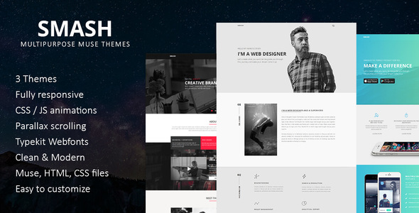 Smash Multipurpose Muse Template Free Download | Nulled