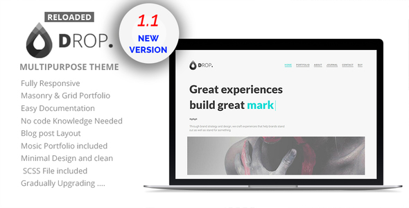 Drop Reloaded - Creative Personal & Portfolio Minimal Theme - Portfolio Creative
