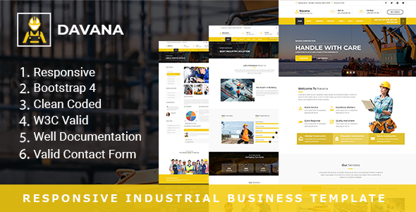 Davana - Responsive Industrial Business HTML Template - Business Corporate